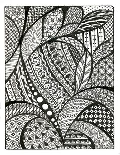 patterns draw zentangle cool designs drawing simple drawings paper easy doodle zentangles things pattern sketches background similar steps beginners super