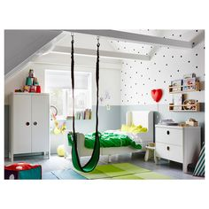 IKEA - BUSUNGE Extendable bed white