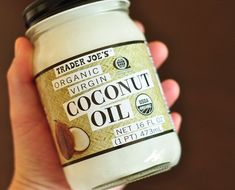 Trader Joe's Organic Coconut Oil- I use this for EVERYTHING! Hair, skin, nails, makeup removal, and of course cooking.