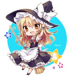 Chibi Marisa from Touhou. How cute!