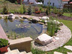 zahradní jezírko - biotop - koupací jezírko | Zahradní jezírka | Kamenosochařství Šplíchal Ponds Backyard, Garden Ponds, Natural Swimming Ponds, Decoration Plante, Water Pond, Water Features, Garden Design, Patio, Pools