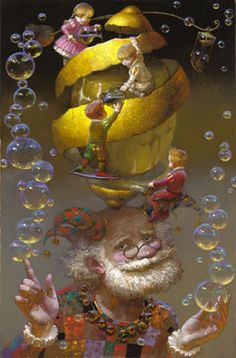 "Victor Nizovtsev ~ Click through the large version for a full-screen view (on a black background in Firefox), set your computer for full-screen. ~ Painter of fables, fantasy and the theatrical. ~ Mik's Pics ""Artsy Fartsy V"" board Victor Nizovtsev, Arte Sketchbook, Psy Art, Illustration Art, Illustrations, Whimsical Art, Surreal Art, Amazing Art, Fantasy Art"