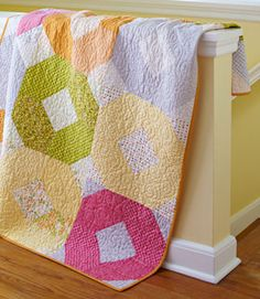 Quick fat quarter quilt.  Can make this quilt with a lot less fabric than called for in the free pattern.  The number of fabric FQs just gives you more variety.  Will either have a lot of leftover scraps or could use smaller existing scraps from your stash.