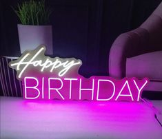 Birthday Greetings, Happy Birthday, Neon Licht, Neon Led, Beautiful Birthday Cakes, Custom Neon Signs, Homescreen, Modern Interior, Wallpapers