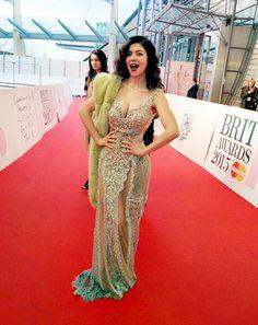 Marina at the Brits, looking like a goddess