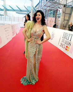 Marina at the Brits, looking like a goddess