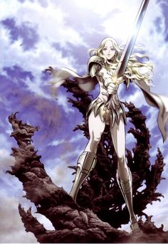 Claymore!! Tough female characters that are also all blonde, imagine that! ;)