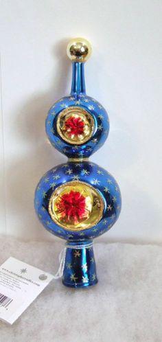Christopher Radko Royal Star Finial Gem Blue Tree Topper 98-242-0A NIB (R51)
