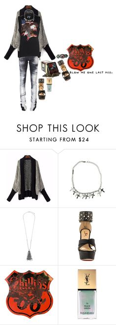 """""""."""" by applecocaine ❤ liked on Polyvore featuring Dsquared2, John Lewis, Luichiny and Yves Saint Laurent"""