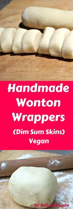 Handmade Wonton Wrappers are easy and fun to make by hand. Instead of buying store-bought Wonton Wrappers, try making your own and taste the difference. Steamed Dumplings, Homemade Dumplings, Wonton Recipes, Wanton Wrapper Recipes, Dim Sum Wrapper Recipe, Vegan Wonton Recipe, Gyoza Wrapper Recipe, Tandoori Masala, Asian Cooking