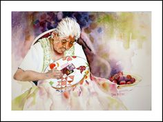 """""""One Square at a Time"""" watercolor (by janwc)"""