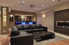 Wonderful Finished Basements | Custom Basement Bar | Finished Basement .ca
