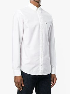 26cf533210ba The Tommy Hilfiger Engineered Oxford Shirt In Bright White Men s Long  Sleeve Shirt From Tommy HilfigerClassicly