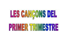 Title Slide of Cançoner Musical, Valencia, Posters, School, First Trimester, Cooperative Learning, Special Education, Songs, Poster