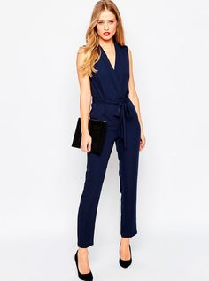 Jumpsuit best for: Hourglass figures Jumpsuits were made for hourglass figures - accentuate your womanly figure with a wrap style, like this jumpsuit from ASOS, £45. Navy blue is a timeless colour, and looks a million dollars with the right accessories. Be daring with chunky gold earrings and bold lipstick for a day-to-night look.