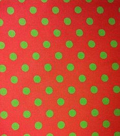 Noel Collection-Green Dots On Red