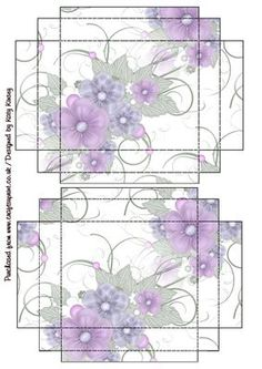 A pretty floral spray decorates this easy to make gift box with lid