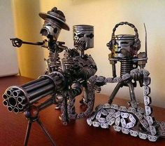 automotive parts sculpture