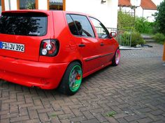 VW Polo 6N taped rims