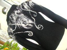 czarno-biały2; tym razem postawiłam na bardziej dekoracyjny tył:-)