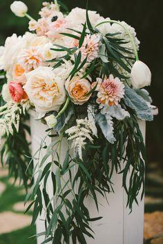 Photography: Emily Blake Photography - emilyblakephoto.com Floral Design: Krista Jon - http://kristajon.com   Read More on SMP: http://www.stylemepretty.com/2015/03/01/traditionally-elegant-la-jolla-wedding/