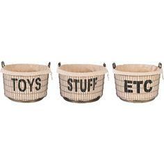 Aidan Gray Decor Wire Toys, Stuff and Etc Basket Set with Linen
