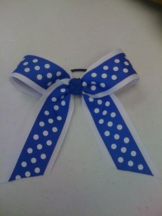 Blue and white polka dots!