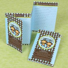 Fabulous 5 - Twin Monkey Boys Personalized Baby Shower Games $0.89