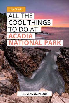 Arcadia National Park, National Parks Usa, East Coast Travel, East Coast Road Trip, Maine Road Trip, Road Trips, Travel Usa, Travel Maine, National Park Camping