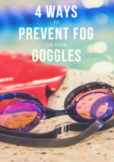 Your goggles will start fogging up if you're not careful, and here are some of the more common solutions. 4 Ways to Prevent Fog on Your Goggles http://www.active.com/triathlon/Articles/4-Ways-to-Prevent-Fog-on-Your-Goggles.htm?cmp=23-284-19