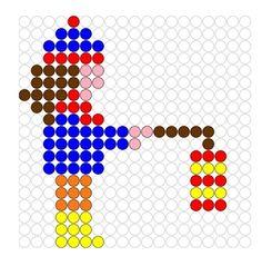 * Kralenplank: Meisje met lampion! Hama Beads Patterns, Beading Patterns, Crafts For Kids, Arts And Crafts, Diy Crafts, Craft Activities, Perler Beads, Pixel Art, Cross Stitch Patterns