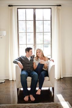 Classic Los Angeles engagement at home // Leila Brewster Photography