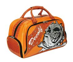 This is a boston bag of the Skull dog, and a color is orange.