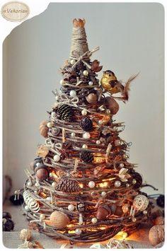 Creative Ideas - DIY Gorgeous Christmas Tree from Tree Branches   iCreativeIdeas.com Follow Us on Facebook --> https://www.facebook.com/iCreativeIdeas