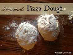 The EASIEST and tastiest Homemade Pizza Dough recipe. It freezes great!