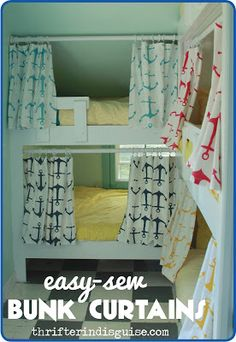 Easy-Sew DIY Bunk Bed Curtains