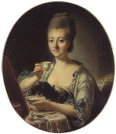 Coffee Painting, Putting On Makeup, Jean Baptiste, Marquise, Dog Paintings, Coffee Love, Writing Inspiration, Portrait, Drinking Tea