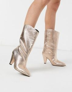 Shop the new range of women's boots at ASOS. Choose your favourite ladies boots in leather and suede, heeled or flat boots style available today at ASOS. Pull On Boots, Flat Boots, Lace Up Boots, Women's Boots, Asos, Rose Gold Shoes Heels, Stylish Boots, Fashion Boots, Fashion Online