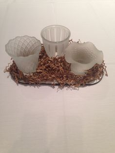 Votive Cups Made From Old Light Fixture Ceiling Fan Globes