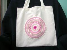 Tote bag rosa de Priscila´s store por DaWanda.com