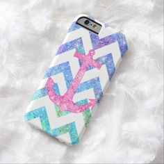 Cute iPhone 6 Case! This Pink Glitter Nautical Anchor Watercolor Chevron iPhone 6 Case can be personalized or purchased as is to protect your iPhone 6 in Style!