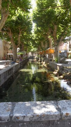 A little village called Goudargues with little water canals everywhere