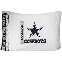 Dallas Cowboys White Pillowcase