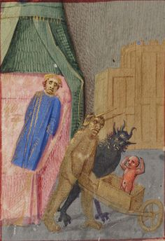 General Collection, Beinecke Rare Book and Manuscript Library, Yale University, Beinecke MS 425 detail of f. 196v. The Fouquet Missal. Bourg...