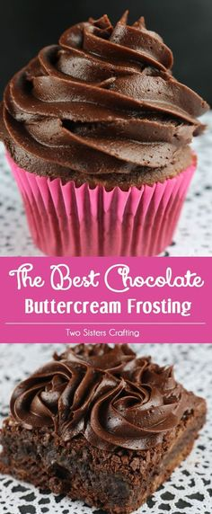 This is definitely The Best Chocolate Buttercream Frosting we have ever tasted and it is so easy to make. Sweet fudgy creamy and delicious - you'll never use store bought Chocolate Frosting again. It is the perfect frosting for cupcakes cakes or even brownies! Follow us for more great Homemade Frosting Recipes.