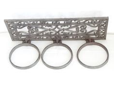 SALE Cast Iron Scarf Rack by LesTempsPerdus on Etsy