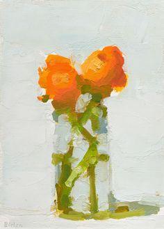 Stanley Bielen, Orange Ranunculus - The Munson Gallery