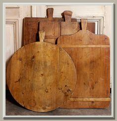 Antique culinary bread boards