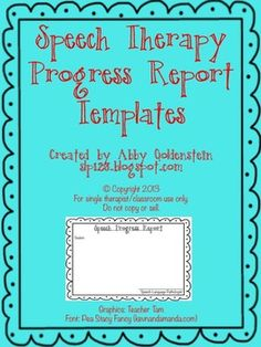 Google Doc Template Freebies  Speech Therapy Therapy And