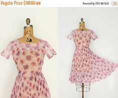 SALE 1950s dress small  50s floral print dress  by TambourVintage